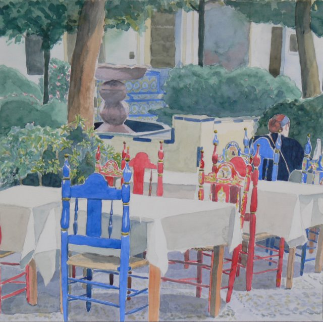 Outdoor Cafe, Seville - SOLD