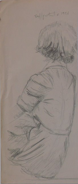 Self Portrait, back view (unframed)
