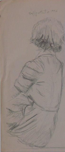 Self Portrait, back view (unframed)