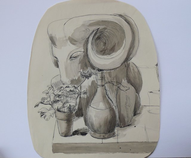 Elephant and Bottle (unframed)