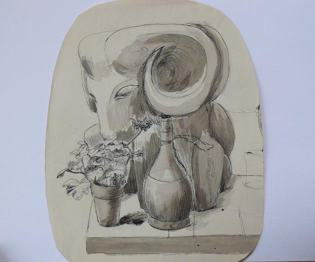 Elephant and Bottle (unframed)