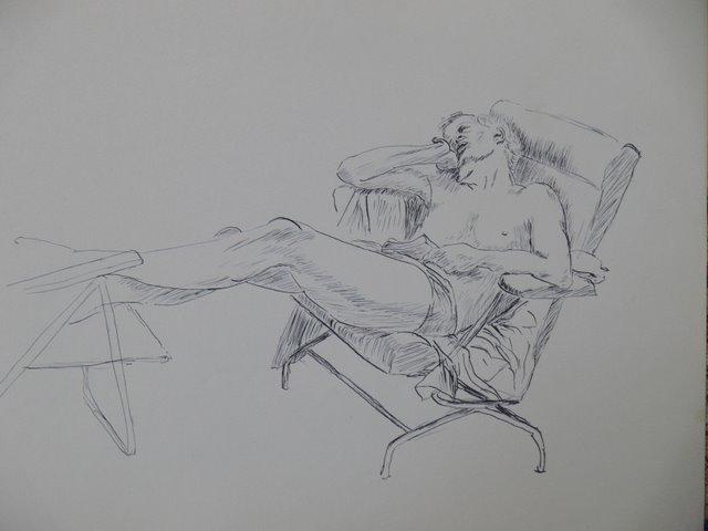 Reclining (unframed)