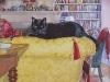 Finzi on the Gold Sofa