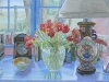 Parrot Tulips and Oriental Lamp