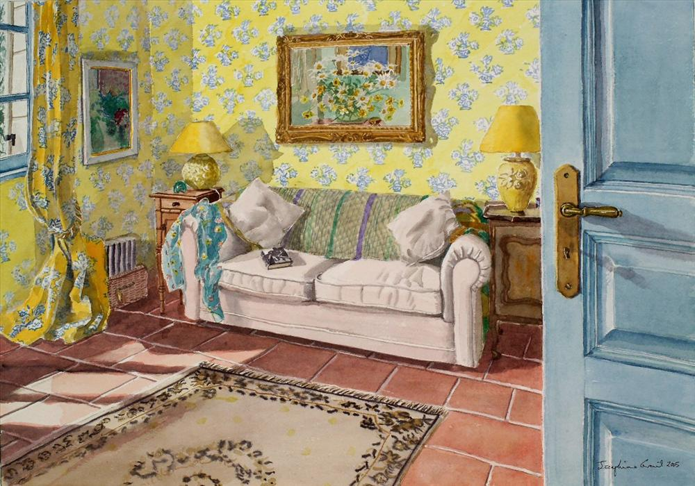 Midday sun in the yellow room - SOLD