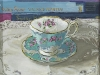 Teacup and Books - SOLD